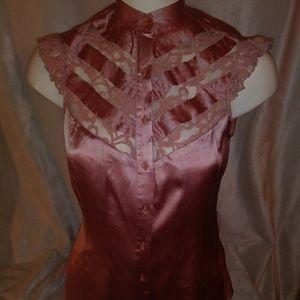 New Bebe rose blouse S